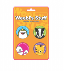 Weebl Stuff Assorted Characters Badge Pack